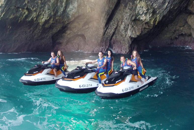 ruta en motos de agua Asturias